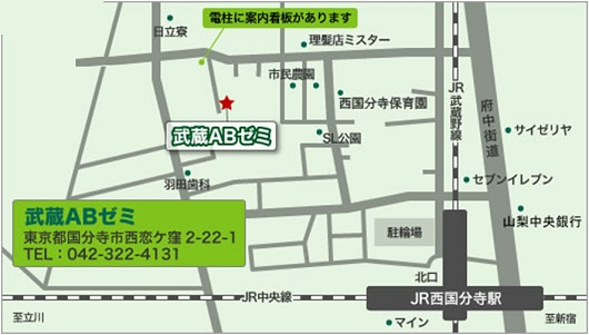 地図|〒185-0013 東京都国分寺市西恋ヶ窪2-22-1